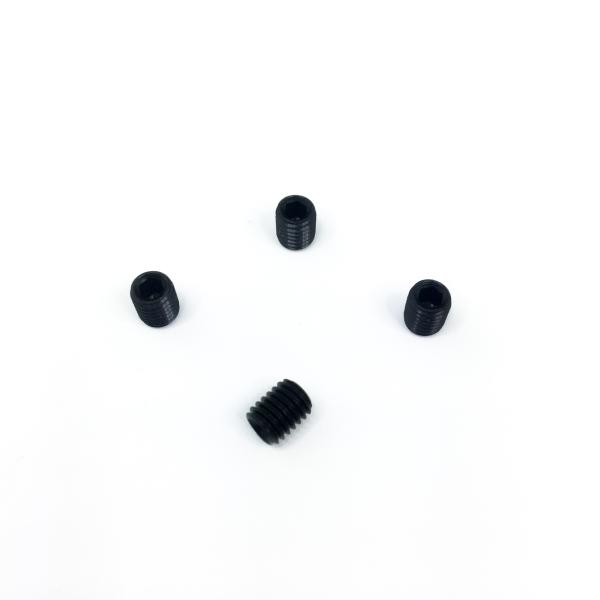Gewindestift-Set (4x M5 x 6mm) Brüniert für Einlegeplatten