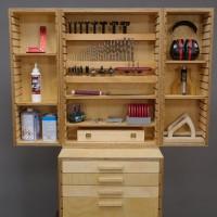 Bohrer-, Fräser- und Werkzeugschrank (Bauanleitung)