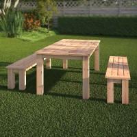 Gartentisch mit Bank (Bauanleitung)