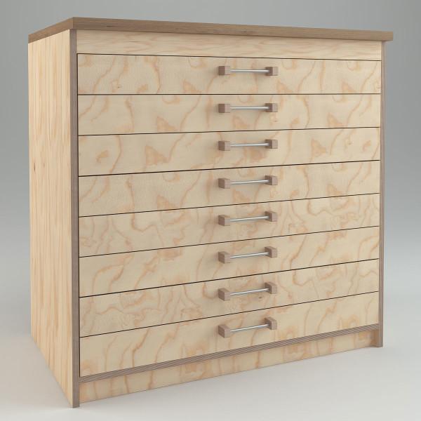 WmS - Schubladenschrank (Bauanleitung)