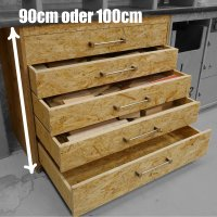 WmS - Schubladenschrank (Bauanleitung) 100 cm